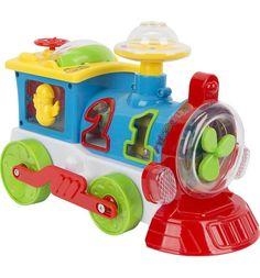 Развивающая игрушка Zhorya Забавный локомотивчик 24 см