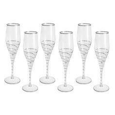 Набор бокалов Same Бар Спираль для шампанского 0,2 л