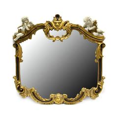 Зеркало в золотистой раме с декором Wah luen handicraft 69х73см
