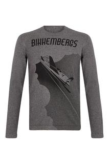 Серый джемпер с самолетом Dirk Bikkembergs