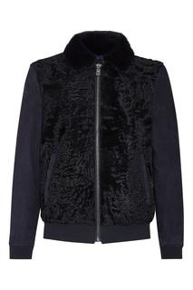 Темно-синяя комбинированная куртка Billionaire