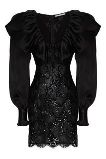 Короткое платье с пышной оборкой Alessandra Rich