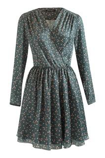 Серое платье с запахом Terekhov Girl