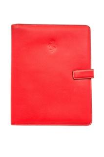 Красный кожаный чехол для iPad Ferrari