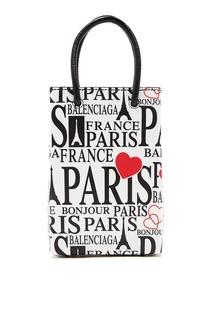 Белая сумка с отделкой Shopping Balenciaga