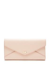 Розовый кошелек из кожи Michael Kors