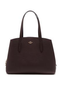 Бордовая кожаная сумка Charlie 40 Coach