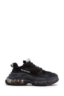Черные массивные кроссовки с отделкой Balenciaga
