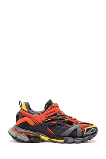 Комбинированные оранжево-черные кроссовки Balenciaga