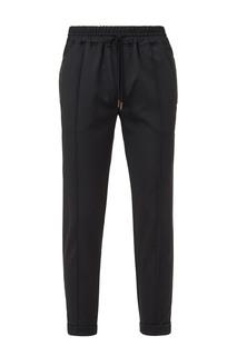 Черные брюки с декором из кожи рептилии Billionaire