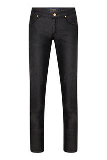 Черные джинсы с декором Billionaire