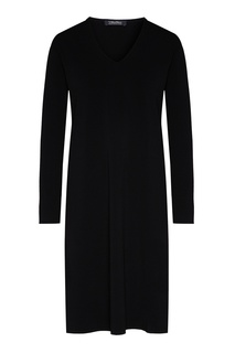 Черное платье с длинными рукавами Max Mara