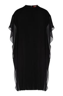 Черное мини-платье с оборками Max Mara