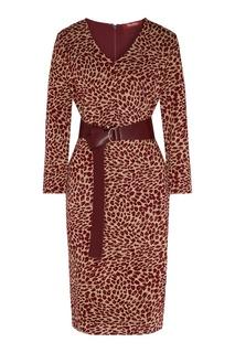 Приталенное платье с леопардовым принтом Max Mara