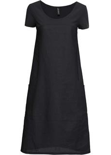 Длинные платья Платье изо льна и хлопка Bonprix