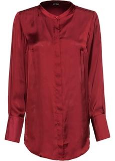 Блузки с длинным рукавом Туника с воротником-стойкой Bonprix