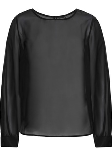 Блузки с длинным рукавом Блузка с вырезами Bonprix