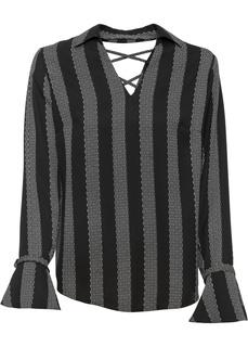Блузки с длинным рукавом Туника в полоску Bonprix