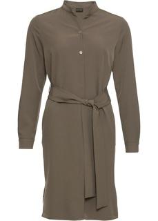 Короткие платья Платье-рубашка с длинным рукавом Bonprix
