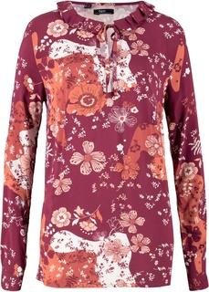 Блузки с длинным рукавом Блузка из вискозы с воротником-стойкой Bonprix