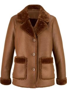 Куртки Дубленка из искусственной кожи Bonprix