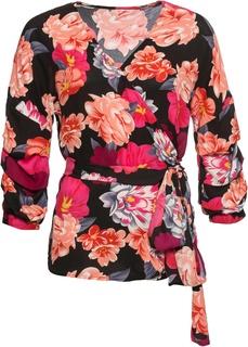 Блузки с длинным рукавом Блузка с запахом Bonprix