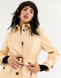 Короткая куртка с поясом Topshop