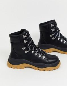 Черные походные ботинки Monki