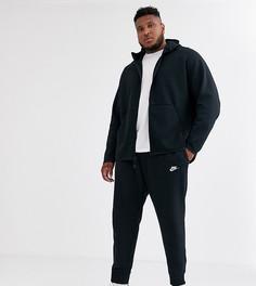 Черные джоггеры с кромкой манжетом Nike Plus Club