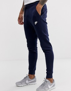 Темно-синие спортивные брюки из флиса Nike Tech