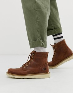 Коричневые кожаные походные ботинки Caterpillar - chronicle