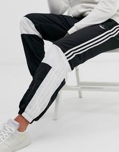 Черные джоггеры колор блок adidas Originals