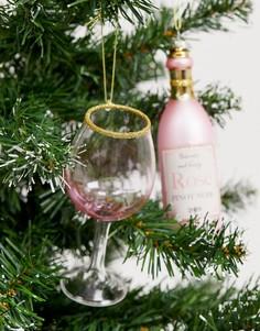 Новогоднее украшение в виде бутылки вина Sass & Belle