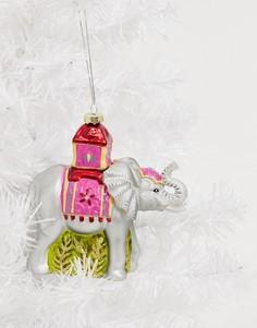 Новогоднее елочное украшение в виде фигурки слона Sass & Belle