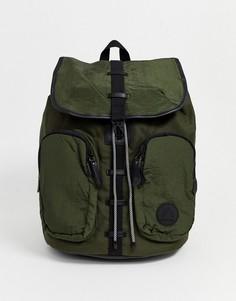 Рюкзак цвета хаки в стиле милитари River Island