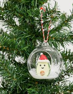 Новогоднее украшение в виде авокадо Sass & Belle