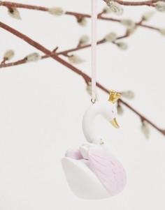 Новогоднее елочное украшение в виде фигурки лебедя Sass & Belle