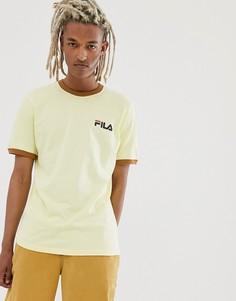 Желтая футболка с окантовкой Fila Rosco