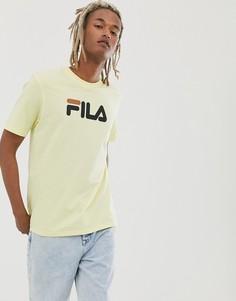 Желтая футболка с логотипом Fila Eagle