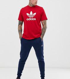 Зауженные флисовые брюки adidas