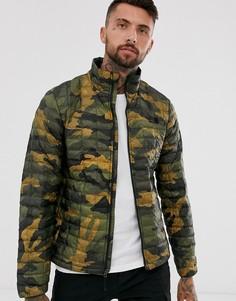Куртка цвета хаки с камуфляжным принтом The North Face Thermoball Eco
