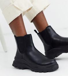 Черные ботинки челси Monki sporty
