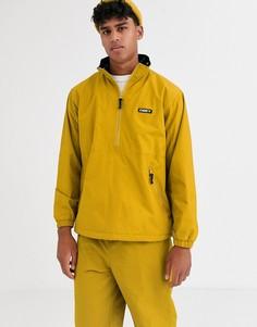 Желтая куртка без застежки Obey Attitude