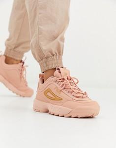 Розовые кроссовки Fila Disruptor II Rose