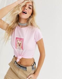 """Облегающая футболка с принтом """"reassuring dog"""" New Girl Order"""