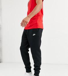 Черные джоггеры с манжетами Nike Tall Club
