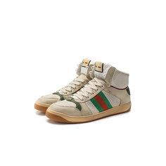 Кроссовки Gucci Кожаные кроссовки Screener Gucci