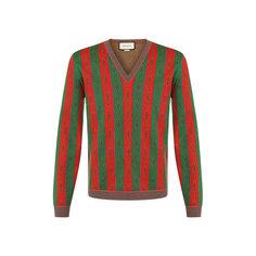 Свитеры Gucci Пуловер из смеси хлопка и шерсти Gucci
