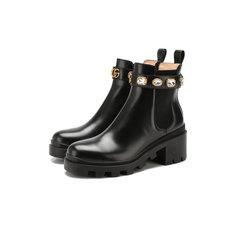 Ботинки Gucci Кожаные челси Trip Gucci