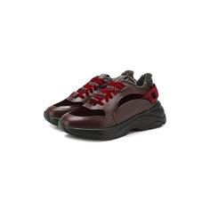 Кроссовки Santoni Кожаные кроссовки Santoni